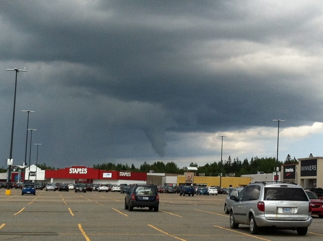 Funnel Cloud over MayFlower Mall in Sydney NS