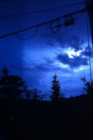flash in the clouds Stephenville, Newfoundland and Labrador Canada