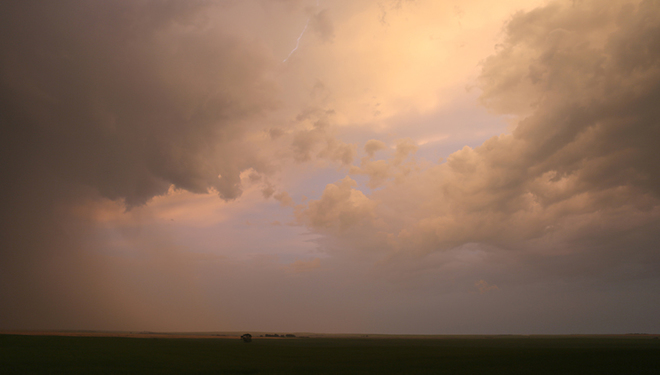 Storm systems moving across the prairie Glenbain, SK