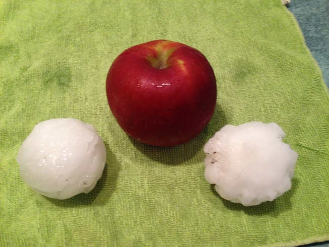 Large Hail almost the size of an Apple Hazenmore, Saskatchewan