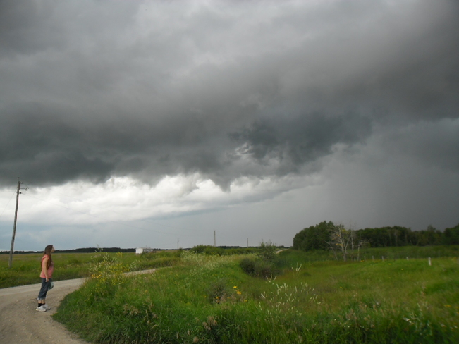 Storm blowing through Waywayseecappo, MB