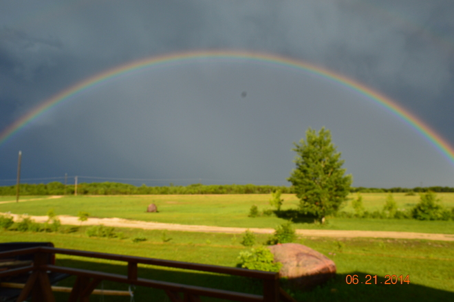 Another Beautiful rainbow at my house Inwood, MB