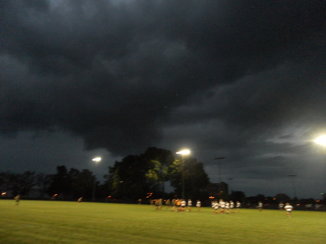 Dark skies but we stayed dry! Mary Anne Sills Field, Palmer Road, Belleville, ON