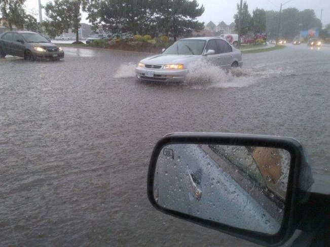 Stuck in the flood waters of August 2, 2014! Kitchener, ON