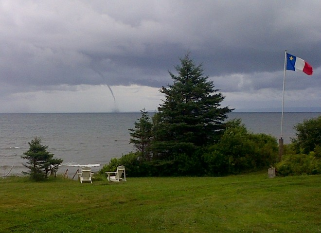 Funnel Cloud over St. George`s Bay Bayfield, NS