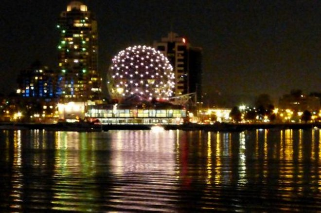 Science World at Night Vancouver, B.C.