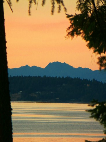 Sunset Over the Olympic Mountains Sooke, BC