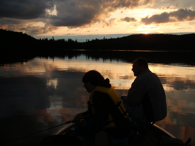 father and son time Wilberforce, ON