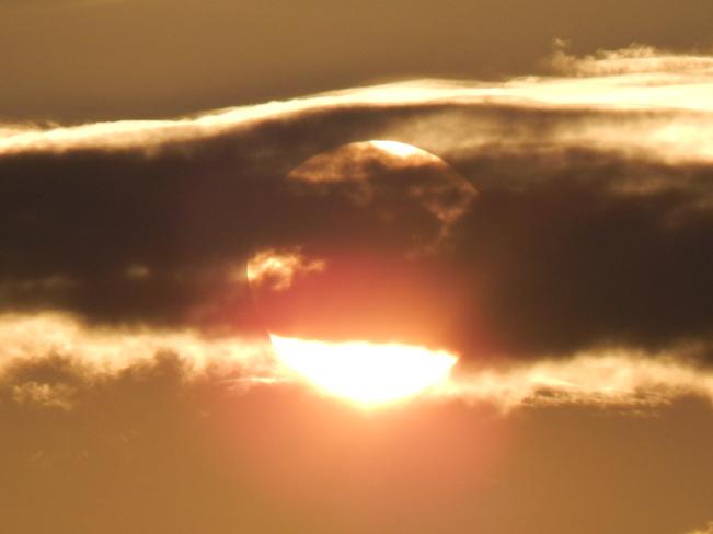 The Sun Set. Maltais, NB