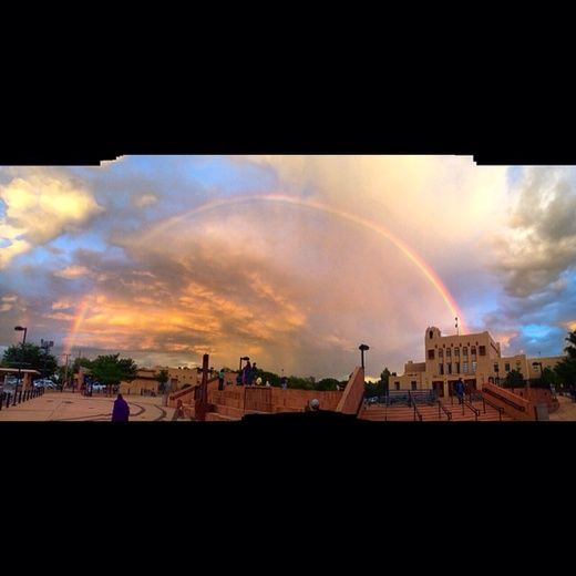 Full rainbow downtown Gallup