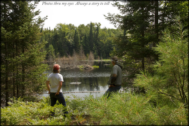 Hiking our property Magnetawan, Ontario Canada
