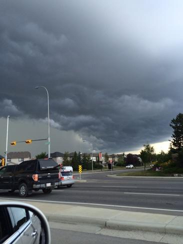 summer storm Calgary, Alberta Canada