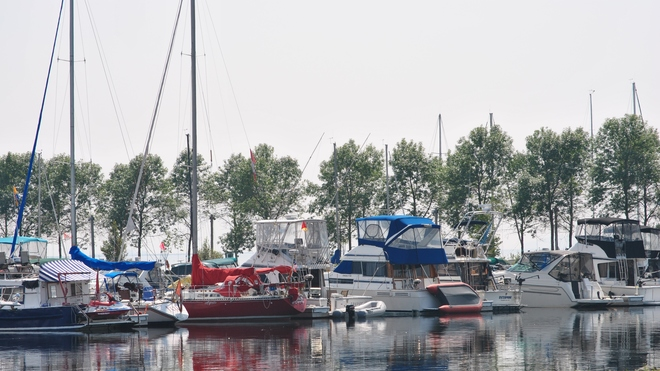 Thunder Bay Marina in the mist Thunder Bay, ON