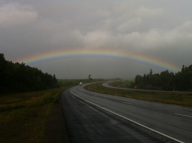 Rainbow over Sussex N.B. Sussex, NB