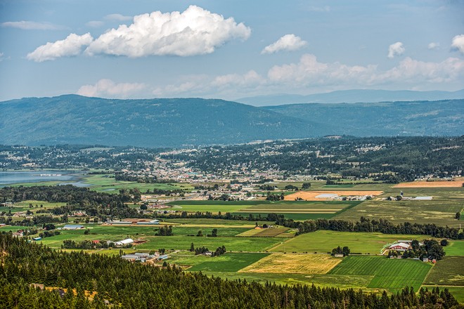 Salmon Arm from Fly Hills Salmon Arm, BC