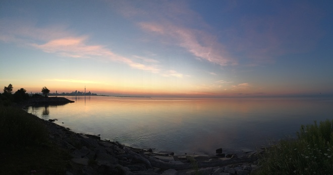 Just before sunrise. Mimico, Ontario Canada