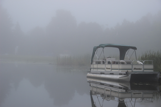 Foggy morning at Lakelet lake. Clifford, Minto, ON