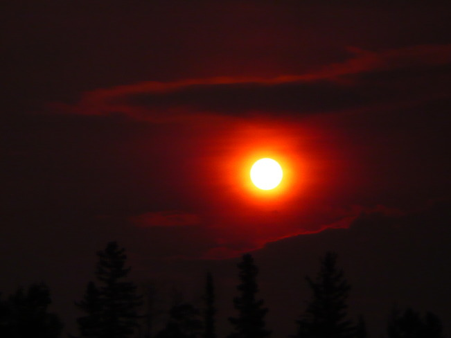 Our Sunrise was a real ball of fire this morning. Quesnel, B. C. Canada