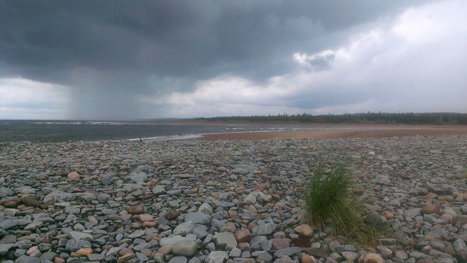 Rain cloud at Stoney Beach Lawrencetown, NS