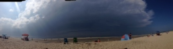 panoramic picture of storm coming to Brewster today