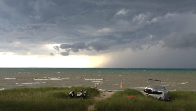 stormy weather Grand Bend, Lambton Shores, ON