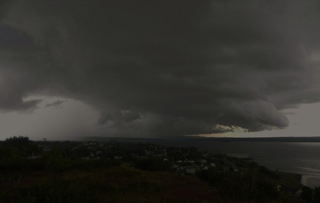 Storm clouds hanging out over BOTWOOD, NL Botwood, NL