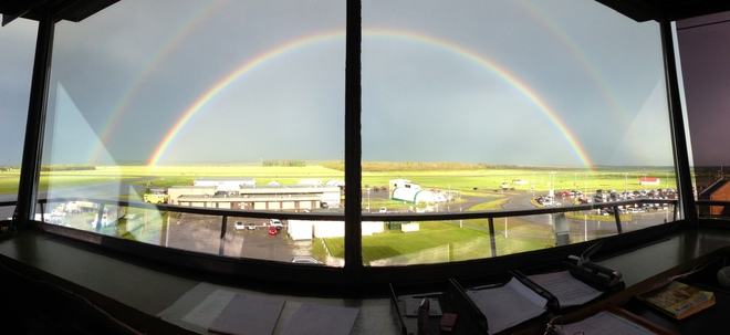 Double Rainbow at the Prince George Airport (YXS) Prince George, BC