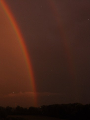 Double rainbow looking SE from Chatham Chatham-Kent, ON