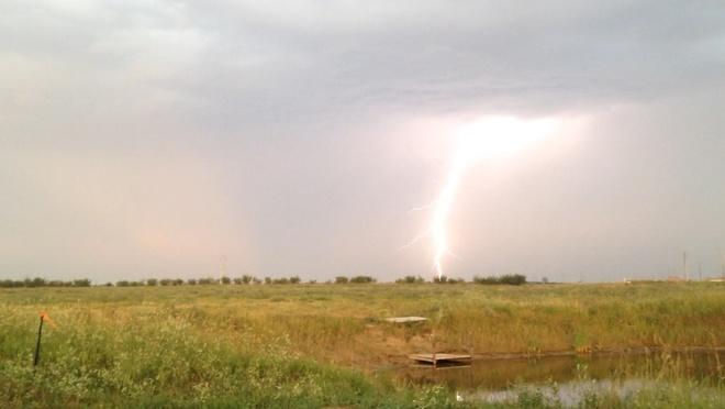Early Morning T-storm Estevan, Saskatchewan Canada