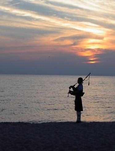 Beach Sunset Bagpiper Southampton, ON