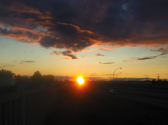 Really Awesome Beautiful August 20th Sunset Edmonton, Alberta Canada
