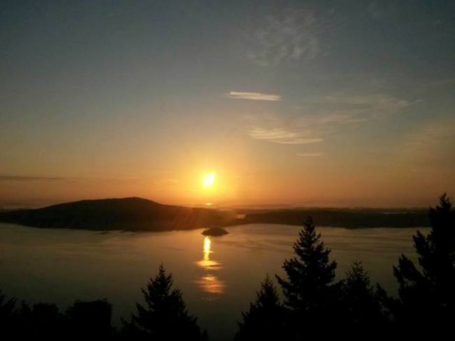 early morning sunrise from the malahat Malahat, BC