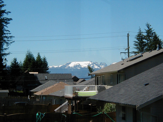 Comox Glacier shrinkage from August 11 2007 to August 11 2014 Courtenay BC