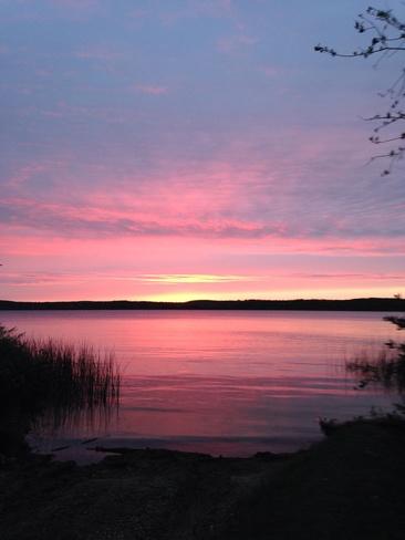 sunset at Greenwater lake park Chelan, Saskatchewan Canada