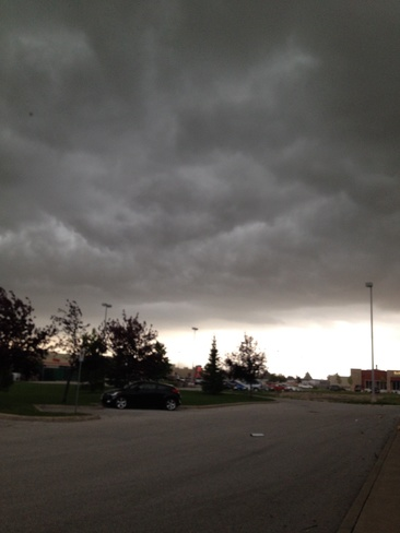 storm clouds Windsor, Ontario Canada