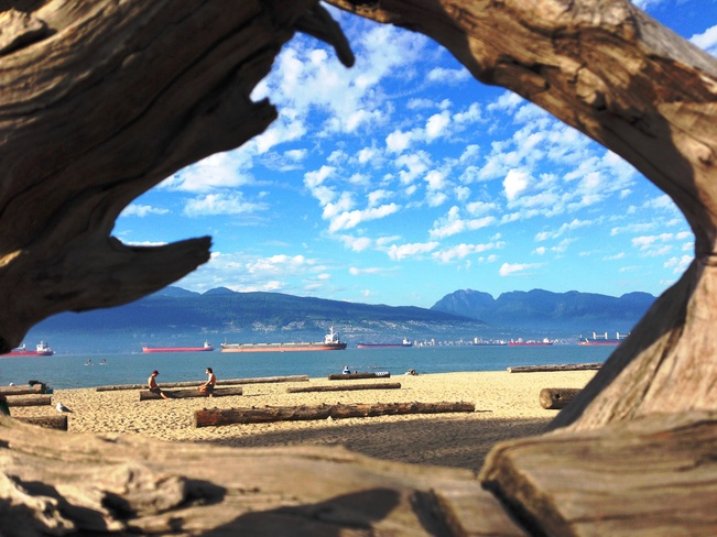 My jalousie's view Vancouver, BC
