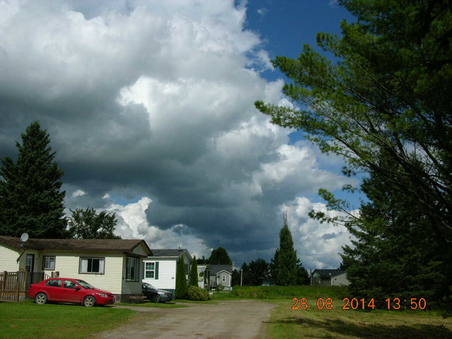Storm clouds rolling in River Glade, NB