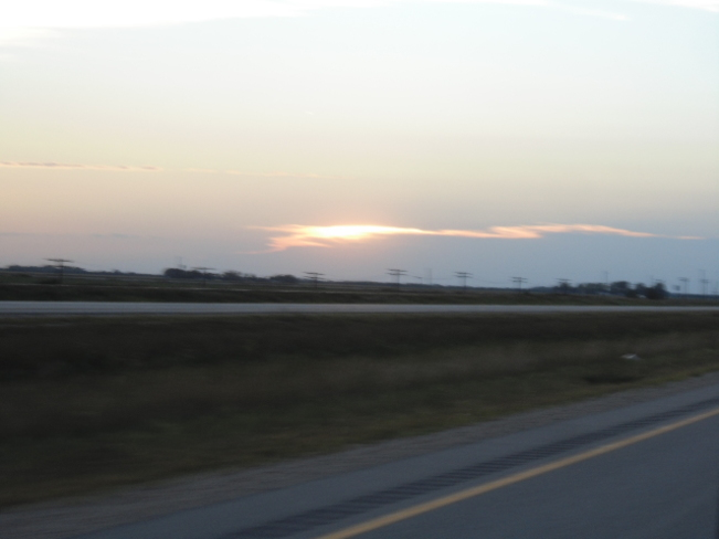 Sunset on Hwy #1 West East of Lorette Manitoba on Hwy # 1