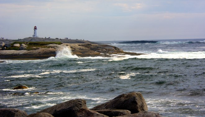The Surf At Peggy's Cove, NS. Peggy's Cove, NS