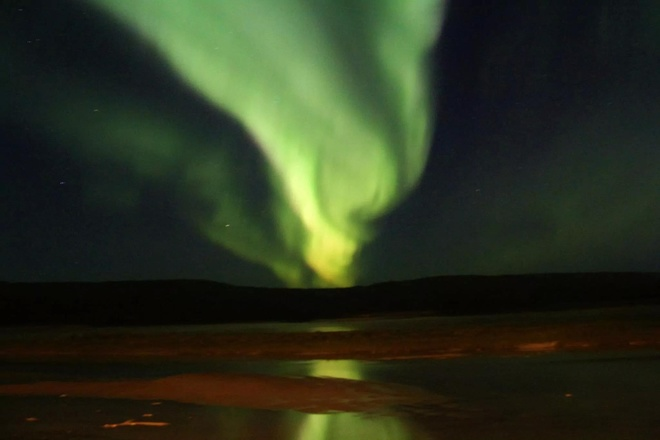 northern lights Fort McMurray, Alberta Canada