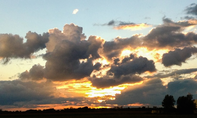 August ends with a beautiful post storm sunset Navan, ON, Canada