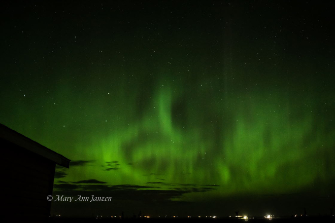 Northern lights active Rosetown, SK