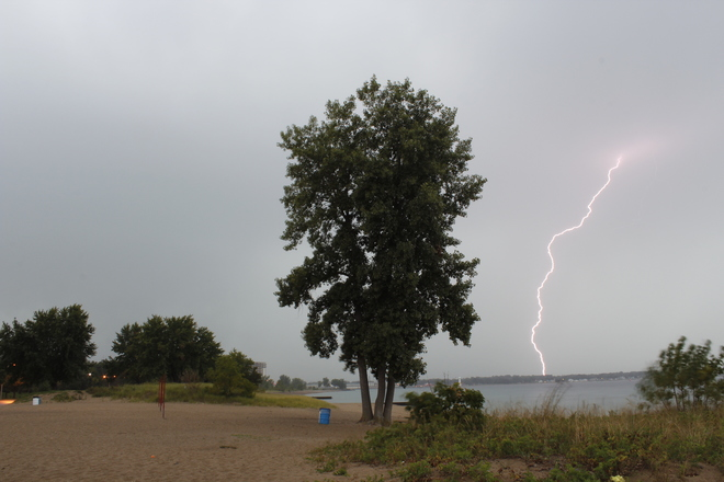 Thunderstorm in Sarnia and resulting sunset Sarnia, ON