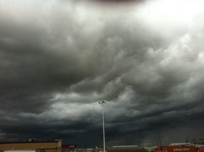 scary clouds Wainwright, Alberta Canada