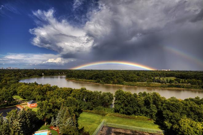 Afternoon rainbow Winnipeg, MB