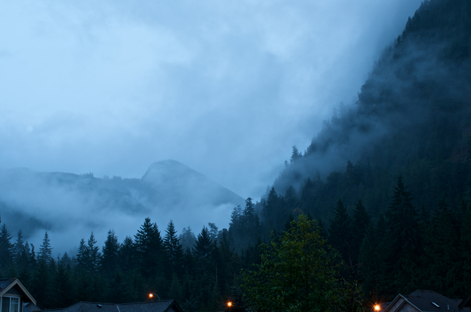 Thick Clouds and Rain Squamish, BC