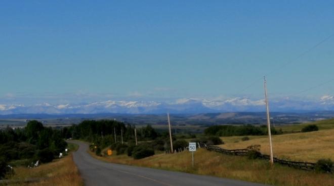 Rockies from Calgary Tuscany, Calgary, Alberta