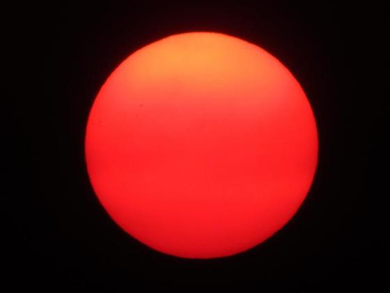 Smoky Sunset...this evening