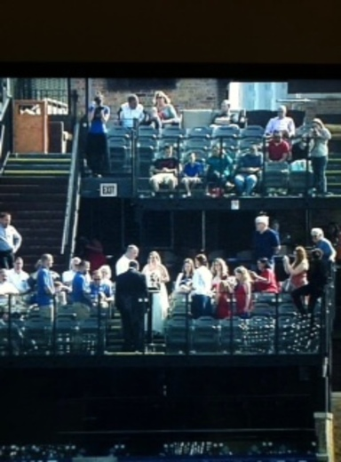 DesMoines couple married at Wrigley field make National TV!