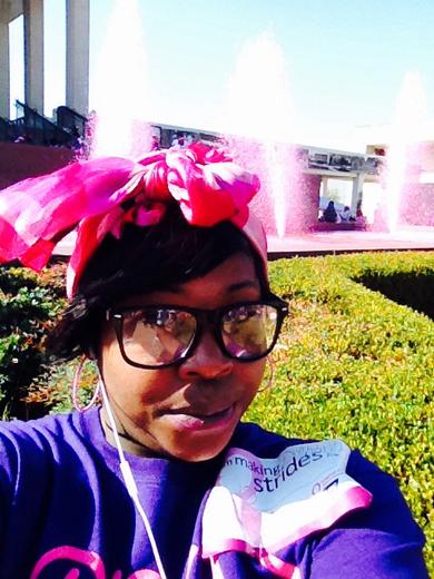 Divas In Action Mentoring Program support the Making Strides Walk Against Breast